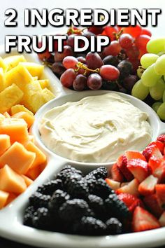 Only two ingredients needed to make this delicious dip. Fluffy and creamy, it pairs with strawberries, bananas, pineapples, and all your favorite fruit. Dip Recipes, Fruit Recipes, Appetizer Recipes, Snack Recipes, Breakfast Recipes, Dessert Recipes, Appetizers, Easy Recipes, Recipies