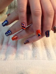 Syracuse fan nails by Becki @ Trendsetters
