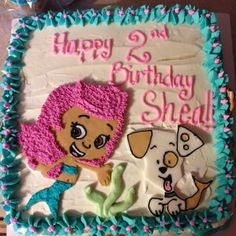 Bubble Guppy cake but with Gil instead. Second Birthday Ideas, 3rd Birthday Parties, Birthday Fun, Birthday Celebration, Bubble Guppies Cake, Bubble Guppies Birthday, Baby Boy Birthday, Bday Girl, Baby Shower Parties