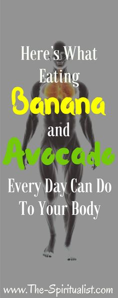 + Avocado = This is What Will Happen to Your Body?Banana + Avocado = This is What Will Happen to Your Body? Health And Fitness Tips, Nutrition Tips, Healthy Nutrition, Health Diet, Healthy Tips, Health And Wellness, Healthy Food, Healthy Recipes, Nutrition Education