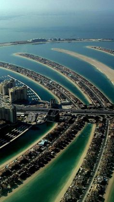Palm Island, is a man-made madness, a must see.  DUBAI - UNITED ARAB EMIRATES