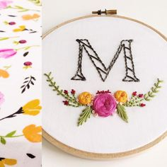 Monogram embroidery hoop.