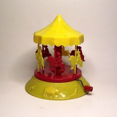 Toy Plastic Carousel Mary Go Round c. 1940  http://www.etsy.com/listing/72972922/rare-vintage-toy-plastic-carousel-mary