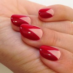 Red triangular nail art :: one1lady.com :: #nail #nails #nailart #manicure