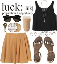 luck by adiicollin featuring flat shoes