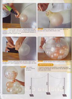 Cómo decorar las fiestas con globos