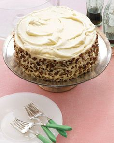 Carrot Cake Recipe- no raisins in this recipe (yay!) but still in search of one similar to the carrot cake that used to be at Cracker Barrel. It had pineapple in it - delicious!
