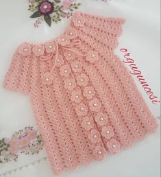 Best 10 Round Yoke Cardigan - Knitting pattern by OGE Knitwear Designs Crochet Baby Jacket, Crochet Baby Sweaters, Gilet Crochet, Baby Girl Crochet, Crochet Baby Clothes, Baby Knitting, Easy Knitting Patterns, Knitting Designs, Crochet Summer Dresses