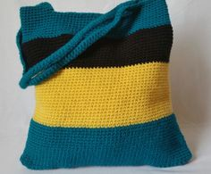 Check out this item in my Etsy shop https://www.etsy.com/listing/462097525/teal-striped-crochet-bag