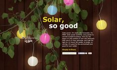 Solar, so good - I really want to try these!