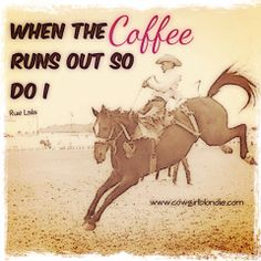 When the coffee runs out...
