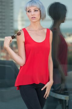 Atelier Prélude - 100% silk top - Iconic Red — Atelier Prélude