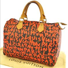 9f053dc37b8e Selling this LOUIS VUITTON MONOGRAM ORANGE GRAFFITI SPEEDY 30 in my Poshmark  closet! My username is  lindsaymarcus.  shopmycloset  poshmark  fashion ...