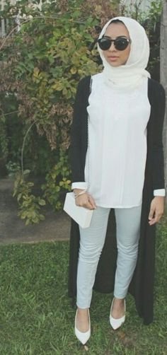 white never looked better. should get myself a white hijab