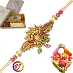 Wooden Beads Island Rakhi - sendgifts2india