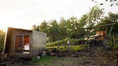 Hawaiian cabins by Erin Moore are designed for life outdoors