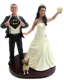 ..Superhero Wedding Cake Toppers