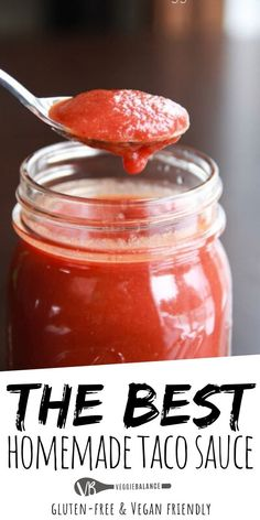 Make Your Own Taco Sauce {Ortega Taco Sauce Copycat} with healthy and natural ingredients. Easy to make with all ingredients in your cabinet already! Homemade Taco Sauce, Taco Sauce Recipes, Homemade Tacos, Mexican Dishes, Mexican Food Recipes, Gluten Free Tacos, Sauces, Food Stamps, Cinco De Mayo