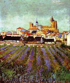 View of Saintes-Maries, 1888.      Vincent van Gogh