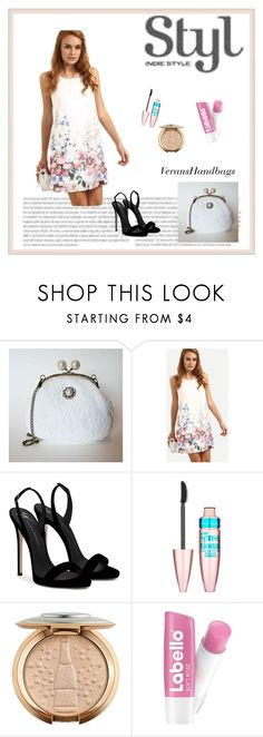 """""""VeransHandbags 7"""" by zerina913 ❤ liked on Polyvore featuring Frame Chain, Giuseppe Zanotti and Maybelline"""