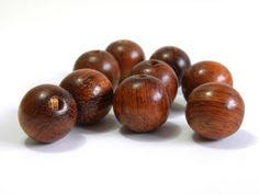 10x Roound Wooden Beads 15 mm  Natural by KolibriBeadSupplies