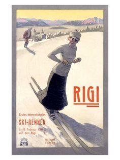 Rigi ski poster