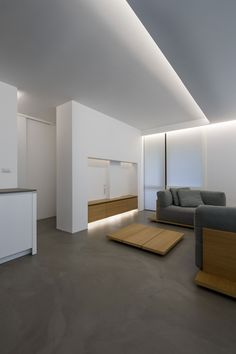 Elia Nedkov Designs a Minimalist Interior in Sofia, Bulgaria Apartment Bedroom Decor, Apartment Interior Design, Interior Ideas, Minimalist Interior, Minimalist Home, Interior Minimalista, Built In Furniture, Contemporary Interior Design, Modern Design