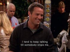 """hilarious quotes from one of our favorite """"Friends"""", Chandler Bing. humor Friends: Chandler Bing's Best One-Liners Tv: Friends, Friends Tv Quotes, Friends Scenes, Friends Moments, Funny Friends, Chandler Friends, Humorous Friend Quotes, Friends Cast, People Quotes"""