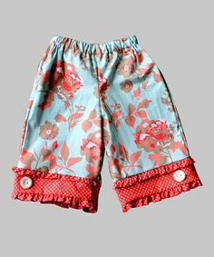 Look what I found on #zulily! Coral Floral Capri Pants - Toddler & Girls by Secretly Spoiled #zulilyfinds