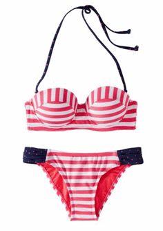 Xhilaration® Junior's 2-Piece Swimsuit -Pink Stripe
