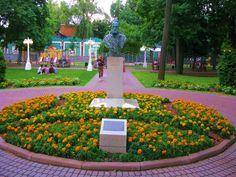 Бюст Гюго в Саду Эрмитаж фото Москвы