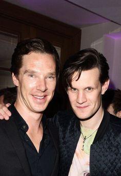 Matt Smith and Benedict Cumberbatch..... I ..... wow. <3