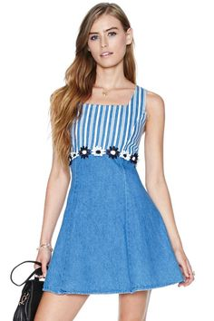 Katie Dress at Nasty Gal Vintage Style Outfits, Trendy Outfits, Vintage Dresses, Cute Outfits, Fashion Outfits, Floral Outfits, Vintage Clothing, Blue Dresses, Short Dresses