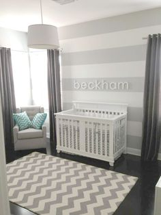 Gray Chevron Crib Baby Bedding | Zig Zag in Gray Baby Bedding Chevron Collection