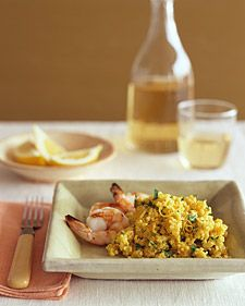 We served this pilaf with grilled shrimp, but it would be just as good with any roasted or grilled fish.