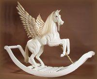 Pegasus on Bows Rocking Horses