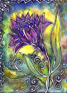 TRADED...BATIK #143 AMETHYST SUNSHINE by Margaret Storer-Roche, via Flickr