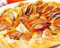 Recette de Tarte rustique aux légumes du soleil Healthy Nutrition, Ratatouille, Veggies, Appetizers, Pizza, Lunch, Snacks, Cooking, Ethnic Recipes
