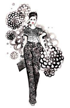 Fashion Illustration - Oscar de la Renta by sunnygu