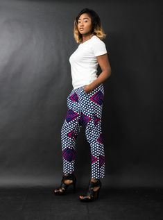 Ethnic pants with wax print made by n&a Fashion