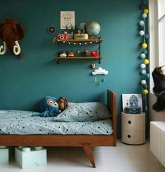 Beautiful Turquoise Room Ideas for Inspiration Modern Interior Design and Decor. Find ideas and inspiration for Turquoise Room to add to your own home. Turquoise Room, Blue Rooms, Kids Room Design, Bed Design, Kids Bedroom, Kids Rooms, Bedroom Ideas, Trendy Bedroom, Sibling Bedroom