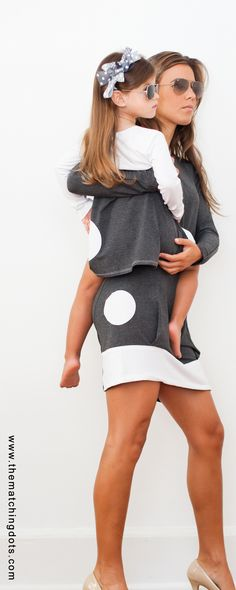Designer Dotted Fashion!  Women's and kids fashion. Gift ideas for little girls. Matching mommy and me and sisters. Made in USA. BE SPOTTED. UNMATCHED MATCHING FASHION girls dress: $62 women's dress: $98