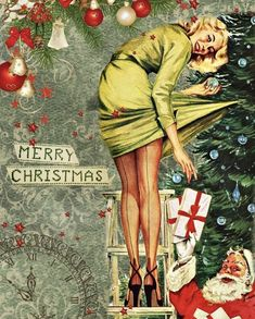 Merry Christmas, Vintage Christmas Cards, Vintage Holiday, Christmas Greetings, Vintage Cards, Christmas Time, Vintage Cartoon, Retro Vintage, Pin Up Vintage