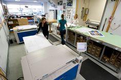 Large format printing, large format scanning, wide format printing