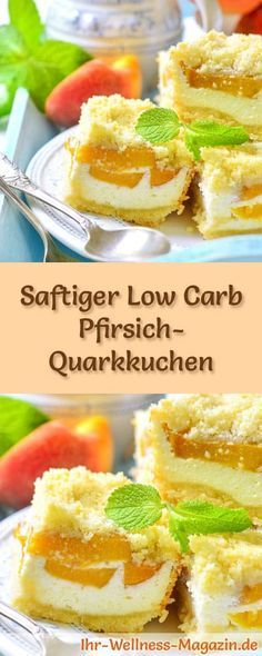 Saftiger Low Carb Pfirsich-Quarkkuchen – Rezept ohne Zucker Recipe: Low Carb Peach Quark Cake – low in carbohydrates, low in calories, with no sugar and cereal flour Berry Smoothie Recipe, Easy Smoothie Recipes, Keto Recipes, Cake Recipes, Low Carb Desserts, Fall Desserts, Yummy Drinks, Healthy Drinks, Cake Recipe Without Sugar