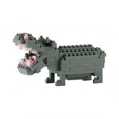 #design3000 Hippopotamus – 3D-Puzzle mit Micro-Bausteinen von Nanoblock.