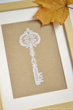 Fabricado por LaFleur: Almost Golden Key / llave casi dorado