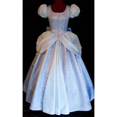 Cinderella GOWN Costume DELUXE Adult Version LIMITED (1.865 BRL) ❤ liked on Polyvore featuring costumes, adult princess halloween costumes, princess halloween costumes, blue costume, party halloween costumes and adult costume