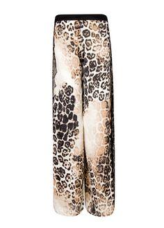 Weite Hose mit Animal-Print
