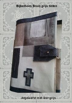 Bijbelhoezen : Bijbelhoes Bruin grijs tinten blok vanaf € 4,-